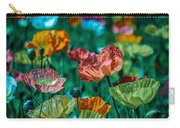Pastel Poppies On Blue Haze Carry-all Pouch