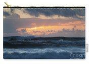 Pastel Sunset Over Stormy Waves Carry-all Pouch