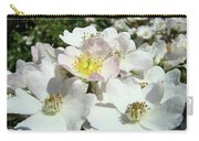 Pastel White Yellow Pink Roses Garden Art Prints Baslee Carry-all Pouch