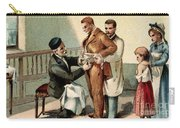 Pasteur Inoculating Man With Rabies Carry-all Pouch
