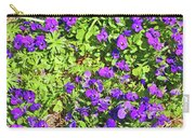 Patch Of Pansies Carry-all Pouch