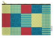 Patchwork Patterns - Muted Primary Carry-all Pouch