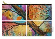 Patchwork Sky Tree Painting With Colorful Sky Carry-all Pouch