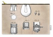patent art Edison 1890 Lamp base Carry-all Pouch