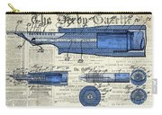 Patent, Old Pen Patent,blue Art Drawing On Vintage Newspaper Carry-all Pouch