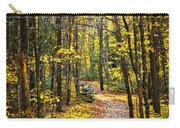 Path In Fall Forest Carry-all Pouch