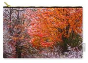 Path In Fall With Early Snowfall Carry-all Pouch