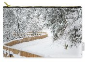 Path In Snow Carry-all Pouch