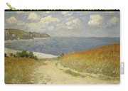 Path In The Wheat At Pourville Carry-all Pouch by Claude Monet