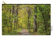 Path In The Woods During Fall Leaf Season Carry-all Pouch