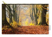 Path Of Red Leaves Towards Light Carry-all Pouch