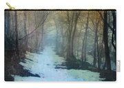 Path Through The Woods In Winter At Sunset Carry-all Pouch by Jill Battaglia