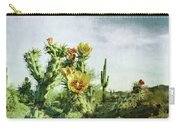 Patina Green Desert Bloom Carry-all Pouch