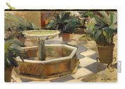 Patio Fountain In Seville Carry-all Pouch