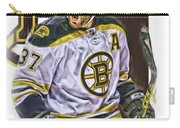 Patrice Bergeron Boston Bruins Oil Art 1 Carry-all Pouch