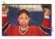 Patrick Roy Wins The Stanley Cup Carry-all Pouch