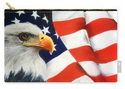 Patriotic Eagle And Flag Carry-all Pouch