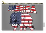 Patriotic Elephant Carry-all Pouch
