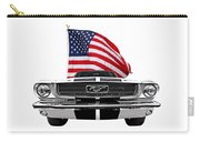 Patriotic Mustang On White Carry-all Pouch