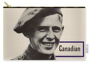 Patriotic World War 2 Poster Us Allies Canada Carry-all Pouch