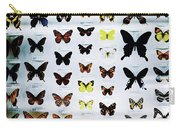 Pattern Made Out Of Many Different Butterfly Species Carry-all Pouch