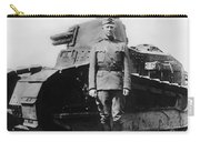 Patton Beside A Renault Tank - Wwi Carry-all Pouch