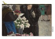 Paul Fischer, 1860-1934, Flower Market In Copenhagen Carry-all Pouch