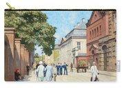 Paul Fischer, Sunny Street Scene, Bredgade, Copenhagen. Carry-all Pouch