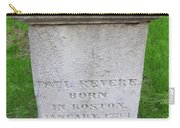 Paul Revere Grave  Carry-all Pouch