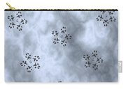 Paw Print Snowflake Stars - Blue/grey Carry-all Pouch