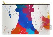 Pawn Chess Piece Paint Splatter Carry-all Pouch
