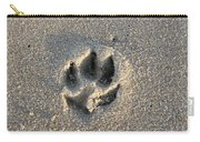 Pawprint In The Sand Carry-all Pouch