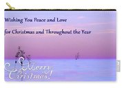 Peace And Love For Christmas Card Carry-all Pouch