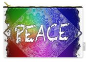 Peace Cool Rainbow 3 Dimensional Carry-all Pouch