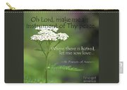 Peace, Francis Of Assisi Carry-all Pouch