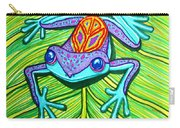 Peace Frog On A Leaf Carry-all Pouch