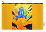 Peace Frog On Fall Leaf Carry-all Pouch