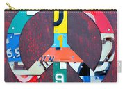 Peace License Plate Art Carry-all Pouch
