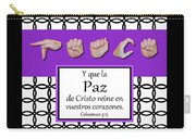 Peace Spanish - Bw Graphic Carry-all Pouch