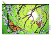 Peace Tree With Monarch Butterflies Carry-all Pouch