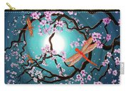 Peace Tree With Orange Dragonflies Carry-all Pouch
