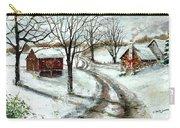 Peaceful Christmas Farm Carry-all Pouch