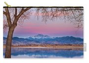 Peaceful Early Morning First Light Longs Peak View Carry-all Pouch