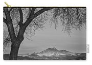 Peaceful Early Morning Sunrise Longs Peak View Bw Carry-all Pouch