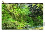 Peaceful Small Creek Under Kinsol Trestle, Vancouver Island, Bc, Canada 1. Carry-all Pouch