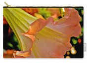 Peach Angel's Trumpet At Pilgrim Place In Claremont-california Carry-all Pouch