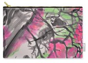 Peach Blossom And Water Buffalo Carry-all Pouch