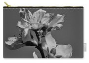 Peach Blossoms In Grayscale Carry-all Pouch