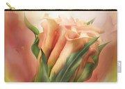 Peach Calla Lilies In Calla Vase Carry-all Pouch