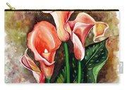 Peach Callas Carry-all Pouch
